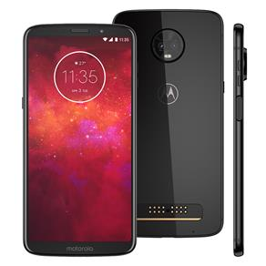 """Smartphone Motorola Moto Z3 Play Ônix 128GB, Tela Max Vision de 6"""", Dual Chip, Câmera Traseira Dupla, Android 8.1, Processador Octa-Core e 6GB de RAM"""