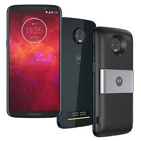Smartphone Motorola Moto Z3 Play Power & DTV Índigo 64GB, Tela 6'', Dual Chip, Câmera Traseira Dupla, Android 8.1, Processador Octa-Core e 4GB de RAM