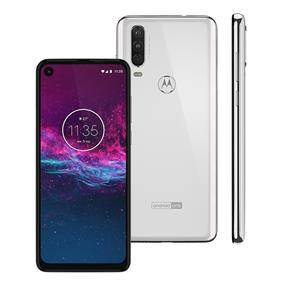 Smartphone Motorola One Action XT2013 128GB 4GB RAM 12MP+5MP+16MP Tela 6.3 Branco Polar