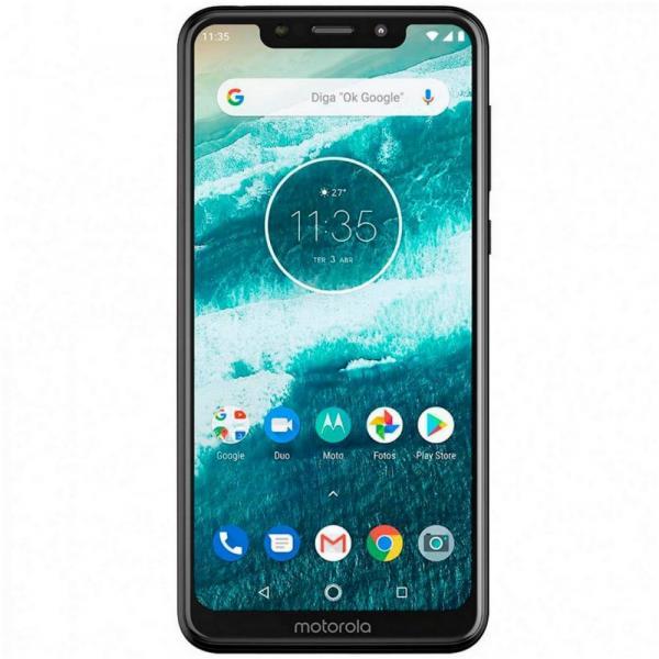 "Smartphone Motorola One XT1941-4 Dual SIM 64GB de 5.9"" 13+2MP/8MP OS 8.1.0 - Branco"
