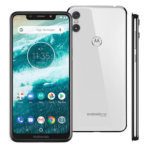 "Smartphone Motorola One XT1941 64GB, Tela 5,9"", Câmera Traseira Dupla - Branco"
