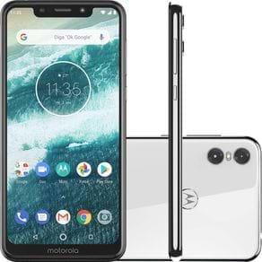 Smartphone Motorola One XT1941-3 64GB Tela 5,9'' Dual Chip 4G Câmera 13MP+2MP 4GB Ram Branco