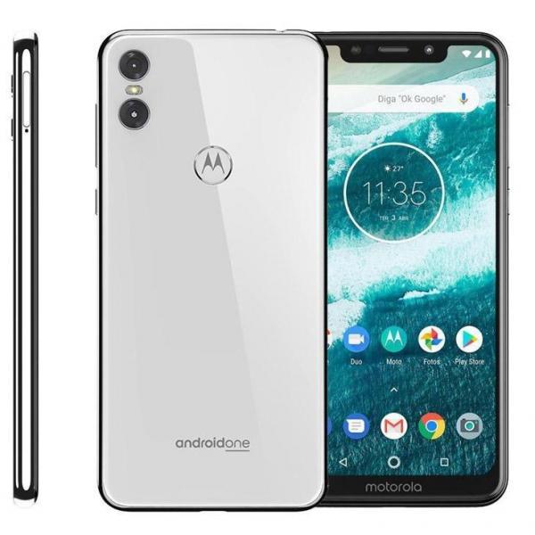 """Smartphone Motorola One XT1941 64GB Tela de 5,9"""", Dual Chip, Android 8.1, Câmera Traseira Dupla, Processador Octa-Core e 4GB de RAM - Branco"""