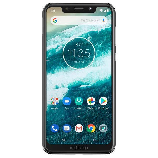 "Smartphone Motorola One XT1941-3 Dual SIM 32GB de 5.9"" 13+2MP/8MP OS 9.0 - Branco"