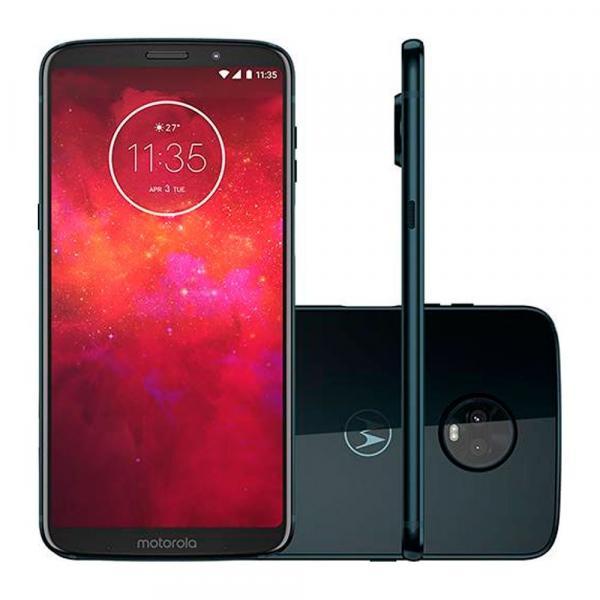 Smartphone Motorola Z3 Play Dual Chip Android 8.0 Tela 6 64GB 4G Câmera 12MP+5MP Dual Câmera