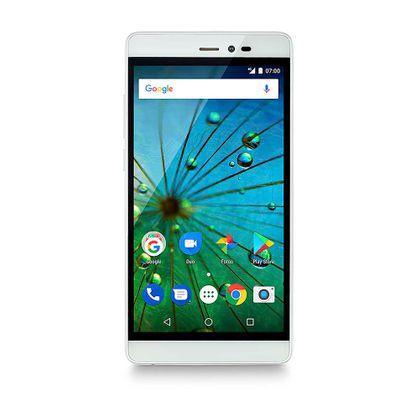 Smartphone Ms60F Plus 4G Tela 5,5 Pol. Sensor de Impressão Digital 2Gb Ram Dual Chip Android 7 Multilaser Branco/Dourado - P9058 P9058