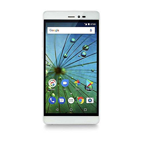 Smartphone Ms60F Plus 4G Tela 5,5 Pol. Sensor de Impressão Digital 2Gb Ram Dual Chip Android 7 Multilaser Branco/Dourado - P9058