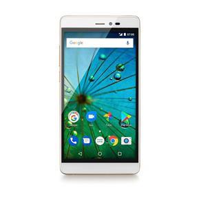 Smartphone MS60F Plus 4G Tela 5,5 Sensor de Impressao Digital 2GB RAM Dual Chip Android 7 Multilaser Branco/Dourado - P9058