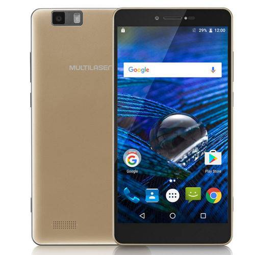 Smartphone Ms70 5,85 Octa Core 4g/wifi/bluetooth Android 6.0 Dourado Nb265 Multilaser