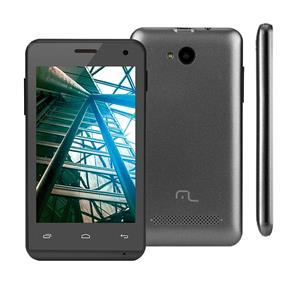 """Smartphone Multilaser MS40 Preto com Tela 4.0"""", Dual Chip, Android 4.4, Câmera 5MP, Wi-Fi, 3G, Bluetooth e Processador Quad Core de 1.2 GHz"""