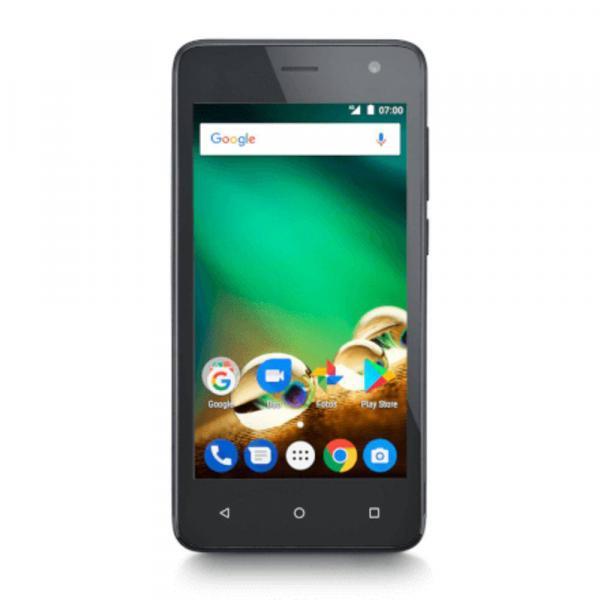 "Smartphone Multilaser MS45 4G, Dual Chip, Android 7.0, Tela 4.5"", 8GB + Sd 32Gb, Câmera 8MP - Preto"