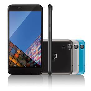 "Smartphone Multilaser MS55 Colors Tela 5,5"" Câmera 5.0 MP+8.0MP 3G Quad Core Ram 1GB+Flash 8GB Android 5.1 Preto - P9003"