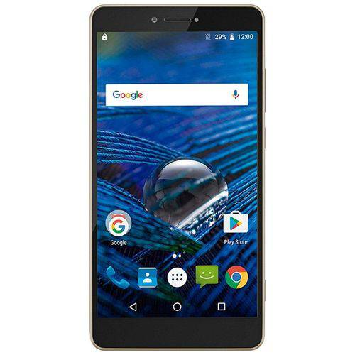 Smartphone Multilaser MS70, Dual Chip, Dourado, Tela 5.8', 4G+Wi-Fi, Android 6.0, 16MP, 32GB