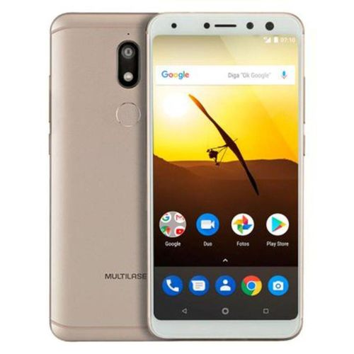 Smartphone Multilaser Ms80 4g 32gb 5,7 HD 3gb Ram Android 7.1 Dual Camera 20mp+8mp Dourado- P9065