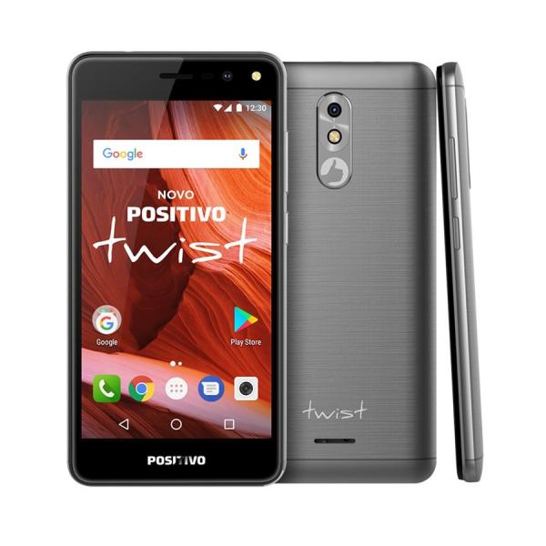 "Smartphone Positivo Twist 16GB 7.0 3G 5"" 8MP S511 - Cinza"