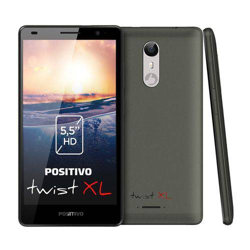 Smartphone Positivo Twist Xl Quad Core 1.3 Ghz Android 7.0 Nougat 8mp 5.5 Xl S555 Cinza