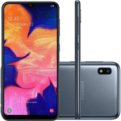 "Tudo sobre 'Smartphone Samsung Galaxy A10 Dual Chip Android 9.0 Tela 6.2"" 32GB Octa-core 4G Câmera 13MP Preto'"