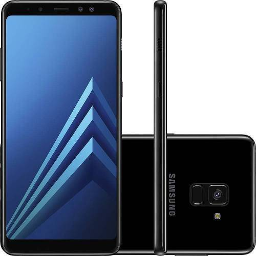 "Smartphone Samsung Galaxy A8 Plus 64gb + Capa e Película Dual Chip Android 7.1 Tela 6"" Octa-core 2.2ghz 4g Câmera 16mp - Preto"