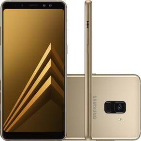 Smartphone Samsung Galaxy A8 SM-A530F 64GB 5,6'' Dual Chip 4G Câmera 16MP Selfie 16MP + 8MP Dourado