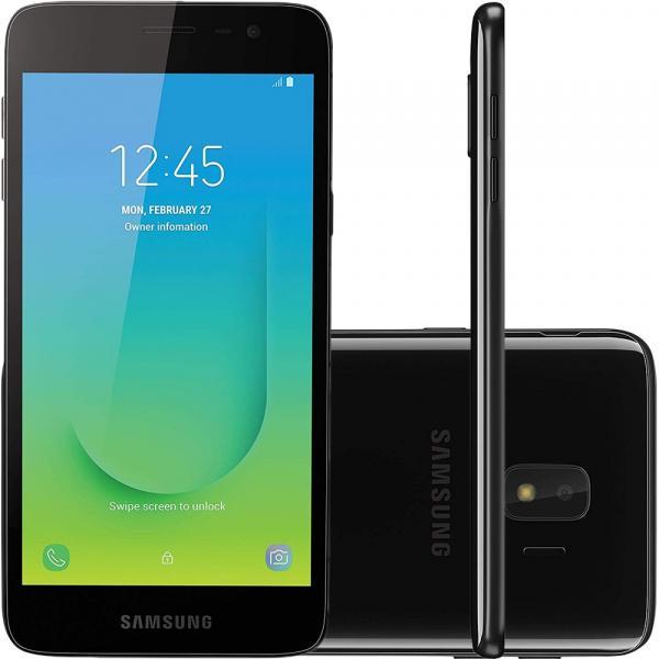 "Smartphone Samsung Galaxy J2 Core 16GB Dual Chip Tela 5"" Câmera 8MP 5MP Android Go 8.1 Preto"