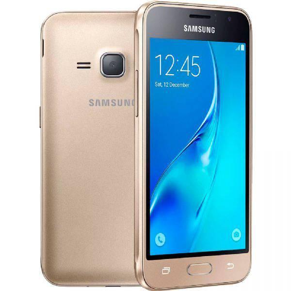 """Smartphone Samsung Galaxy J1 2016, Dourado, J120H, Tela de 4.5"""", 8GB, 5MP"""