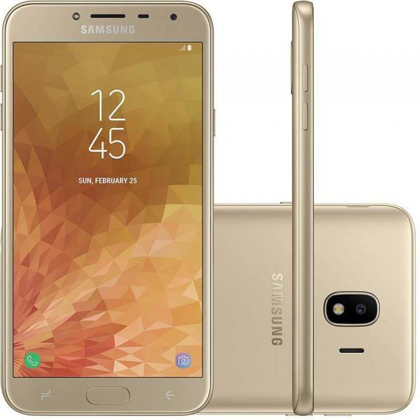 """Smartphone Samsung Galaxy J4 16GB SM-J400M Tela 5.5"""" Dual Chip 4G, Câmera 13MP, Android 8.0 Processador Quad Core e RAM de 2GB - Dourado"""