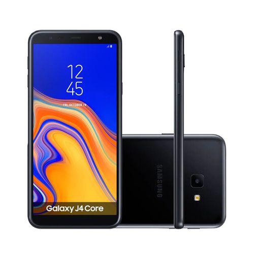 Smartphone Samsung Galaxy J4 Core 16GB Dual Chip Tela 6'' Câmera 8MP 5MP Android Go 8.1 Preto
