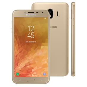 """Smartphone Samsung Galaxy J4 Dual Chip, 4G, Câmera 13MP, Android 8.0, Processador Quad Core e RAM de 2GB, 32GB, Dourado, Tela 5.5"""""""