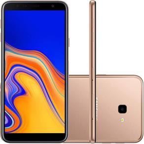 Smartphone Samsung Galaxy J4+, 32GB, Dual Chip, Android, Tela Infinita 6 Pol, 4G Câmera 13MP - Cobre