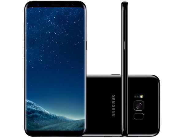 "Smartphone Samsung Galaxy S8+128GB Preto Dual Chip - 4G Câm. 12MP + Selfie 8MP Tela 6.2"" Quad HD+"