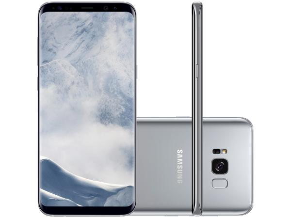 "Smartphone Samsung Galaxy S8+ 64GB Prata Dual Chip - 4G Câm. 12MP + Selfie 8MP Tela 6.2"" Quad HD"