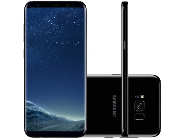 "Smartphone Samsung Galaxy S8+ 64GB Preto Dual Chip - 4G Câm. 12MP + Selfie 8MP Tela 6.2"" Quad HD"