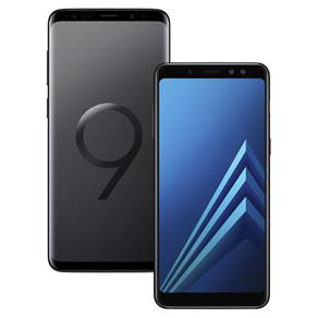 Smartphone Samsung Galaxy S9 Plus Preto 128GB+Smartphone Samsung Galaxy A8 Preto com 64GB