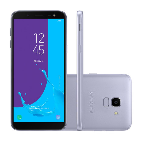 Smartphone Samsung J600g Galaxy J6 Prata 64 Gb