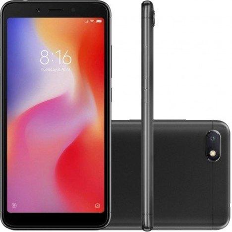 Smartphone Xiaomi Redmi 6A 16Gb Versão Global Desbloqueado Preto