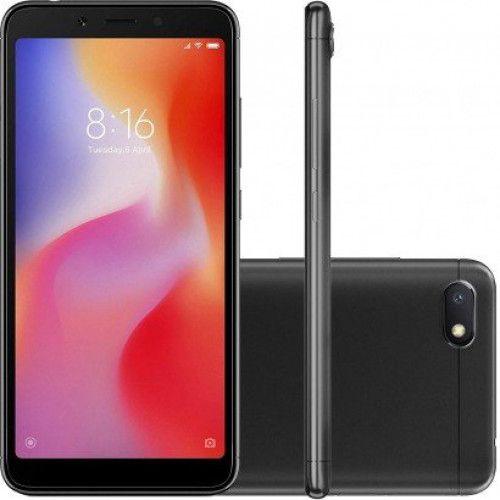 Smartphone Xiaomi REDMI 6A Dual Chip Android 8.1 Tela 5.45 Quad-Core 2 GHz 16GB 4G Camera 13MP