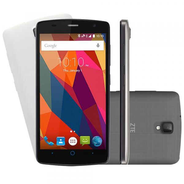 "Smartphone ZTE L5 Shade Desbloqueado Tela 5"" 8GB Câmera Frontal Dual Android 5.1 Preto Capa Branca - Zte"