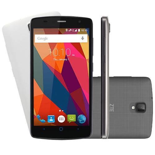 "Smartphone Zte Shade L5 Dual Cinza - Android 5.1 Lollipop, Câmera 8mp, Tela 5"" + Capa Branca"