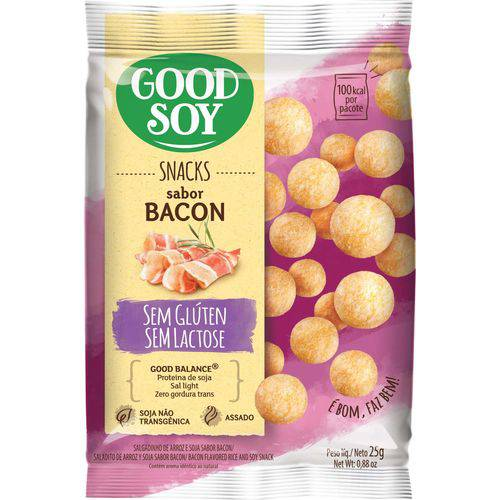 Tudo sobre 'Snack Goodsoy Bacon 25g'