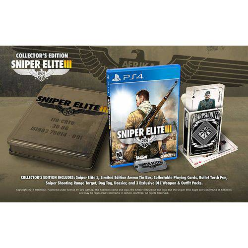 Tudo sobre 'Sniper Elite Iii Collectors Edition - Ps4'