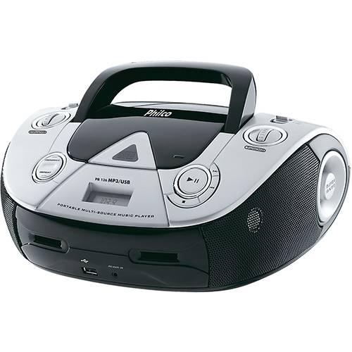 Tudo sobre 'Som Portátil Philco 4W RMS MP3 USB Pb126 Preto'