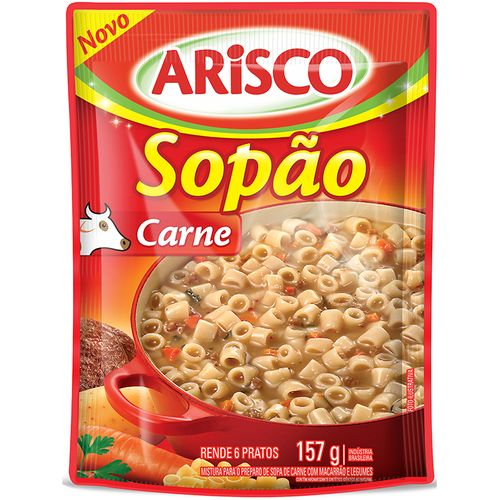 Tudo sobre 'Sopão Arisco 157g-ev Carne SOPAO ARISCO 157G-EV CARNE'