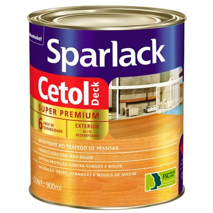 Tudo sobre 'Sparlack Cetol Deck 900ml Natural Semi Brilhante 900 Ml'