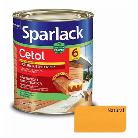 Sparlack Verniz Cetol Base Água 0,9 Litro Natural