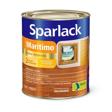 Sparlack Verniz Extra Marítimo Brilhante 0,9 Litro 0,9 Litro