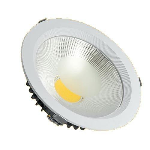 Spot LED COB 30w Embutir Redondo Branco Quente