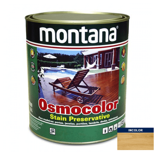 Stain Acetinado Incolor UV Glass Osmocolor Montana 0,9l