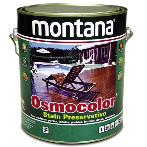 Stain Osmocolor Acetinado Castanho 3,6L Montana