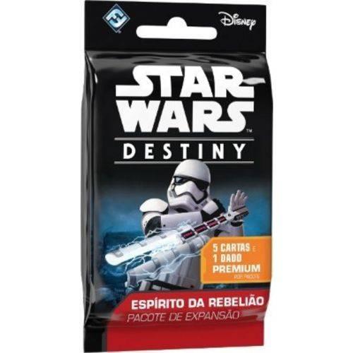 Tudo sobre 'Star Wars Destiny Booster 5 Cartas + Dado Expansão Espirito da Rebelião Galapagos'
