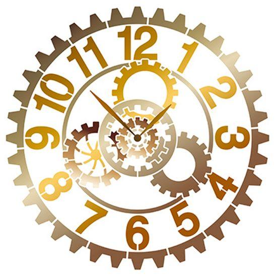Tudo sobre 'Stencil Litoarte 30x30 STQG-019 Relógio Engrenagem'